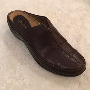 Cole Haan REVA Brown Pebbled Leather Clogs 8.5M